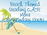 Beach Themed Reading CAFE Menu