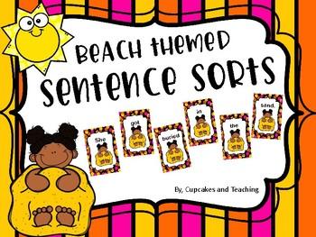Beach Themed: Sentence Sorts