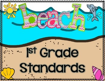Beach Themed Write and Wipe Standards Posters