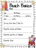 Beach Themed Student Profile