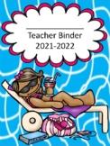 Beach Themed Teacher Binder