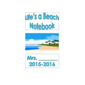 Beach Themed Teacher Binder (EDITABLE)
