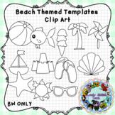 Beach Themed Template Clip Art