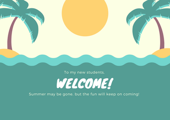 Beach Themed Welcome Card
