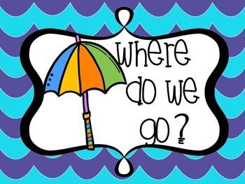 Beach Themed Where do we go/Where are we?