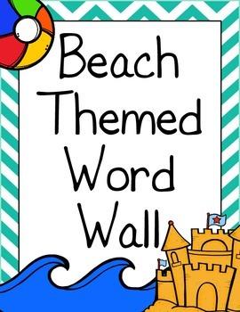 Beach Themed Word Wall