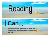 "Beach Themed grade 3 Common Core ""I Can"" statement posters - Reading"