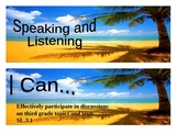"Beach Themed grade 3 Common Core ""I Can"" statement posters"