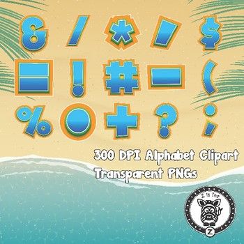 Beach Time Alphabet Alpha Clip Art