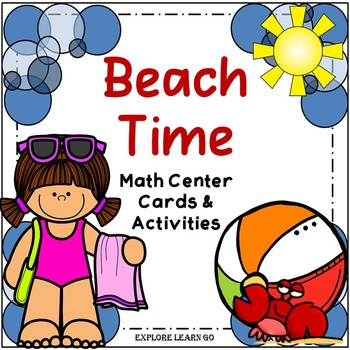 Beach Time Math Center / Montessori Style / Hands-on Activities