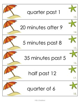 Beach Time Math Centers/Task Cards