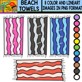 Beach Towels - Colorful Cliparts Set - 11 Items