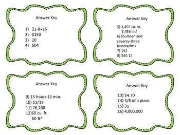 Beach Trip Task Cards