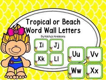Beach/Tropical Word Wall Letters  Dollar Deal