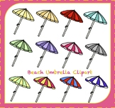 Beach Umbrella Clipart / Beach Clipart / Summer Clipart