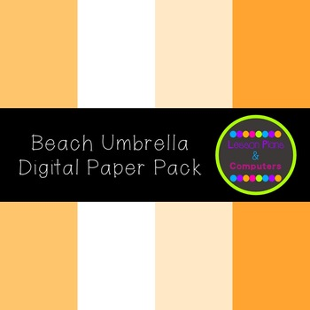 Beach Umbrella Digital Paper Pack