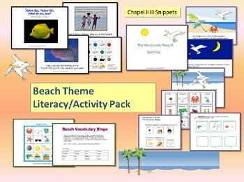 Beach Unit--Interactive books, Special Education and SLP,