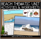 Beach Thematic Unit with Cross Curricular Activities