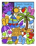Beach Vacation {Creative Clips Digital Clipart}