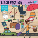 Beach Vacation Holiday Clipart | Travel Themed Items and C