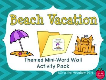 Beach Vacation Mini-Word Wall Activity Pack