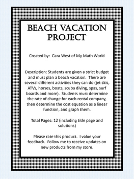 Beach Vacation Project