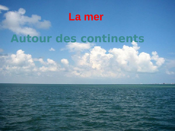 Beach Vocabulary in French (la plage)