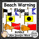Beach Warning Flags Clipart BUNDLE