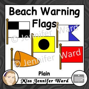 Beach Warning Flags Clipart Plain