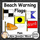 Beach Warning Flags Clipart Plain