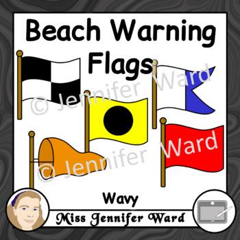 Beach Warning Flags Clipart Wavy