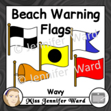 Beach Warning Flags Clipart Wavy