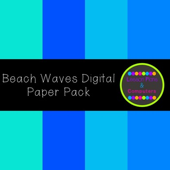 Beach Waves Digital Paper Pack