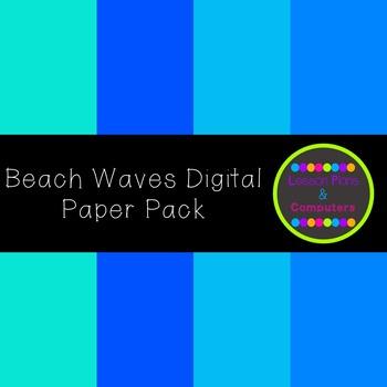 Beach Waves Digital Paper Pack