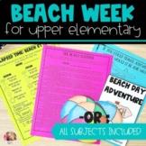Beach Week Unit for Upper Elementary | End of Year Classro