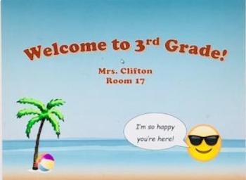 Beach Welcome Sign (Editable)