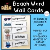 Beach Word Wall Cards