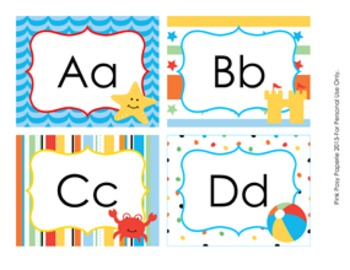 Beach Word Wall Headers