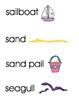 Beach Word Wall/Vocabulary Cards