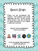 Beach Words Bingo
