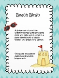 Beach Words Bingo