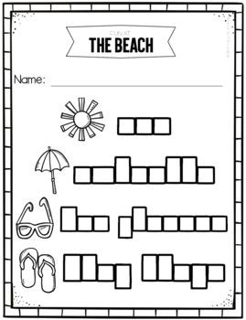 Fun at the Beach - Write the Room