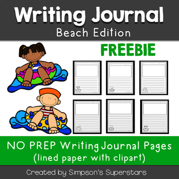 Beach Writing Journal Sheets FREEBIE