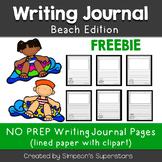 Beach Writing Journal Sheets FREEBIE