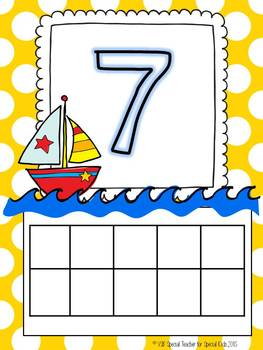 Beach and Boat Ten Frame Fun and Printables {Aligned with Common Core}