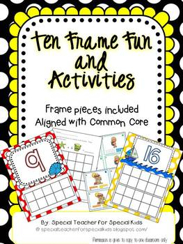 Beach and Boat Ten Frame Fun and Printables {Aligned with