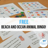 FREE Beach and Ocean Animal Inferencing and Describing Bin
