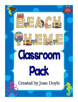 Back to School Beach and Ocean Theme Classroom Pack
