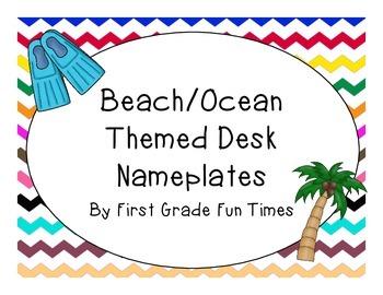 Beach and Ocean Theme Desk Name Plates
