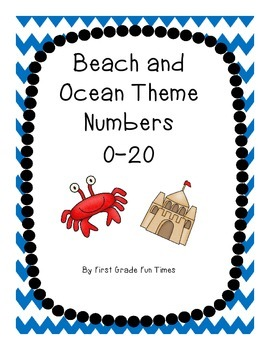 Beach and Ocean Theme Numbers 0-20 Posters